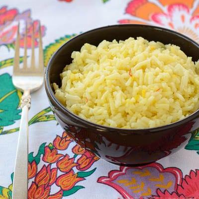 Saffron Yellow Rice | Magnolia Days