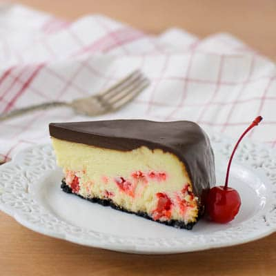 Chocolate Covered Cherry Cheesecake | Magnolia Days