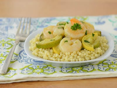 Shrimp and Vegetable Couscous for #WeekdaySupper #SauteExpress