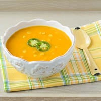Spicy Sweet Potato and Corn Soup