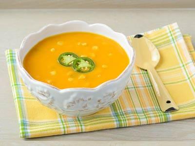 Spicy Sweet Potato Corn Soup | Magnolia Days