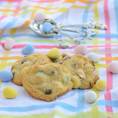 Mini Egg Chocolate Chip Cookies + Catching Fireflies