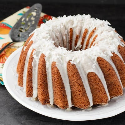 Pina Colada Bundt Cake for #BundtAMonth