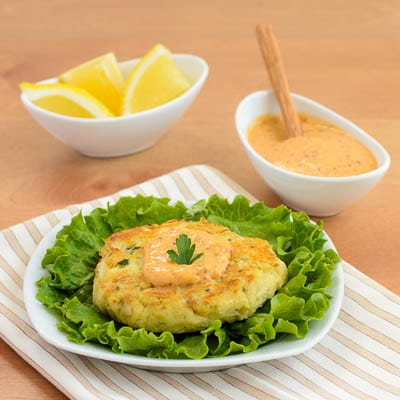 Remoulade Sauce and Crab Cakes
