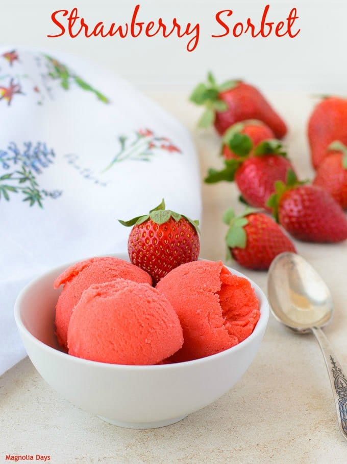 Strawberry Sorbet | Magnolia Days