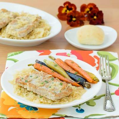 Pork Chops with Sauerkraut | Magnolia Days