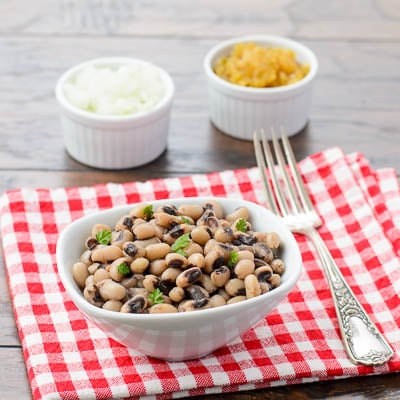 Southern-style Black-eyed Peas for #SundaySupper