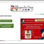Ziplist Magnolia Days Save Recipe Box