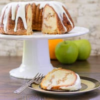 Apple Swirl Bundt Cake with Browned Butter Glaze