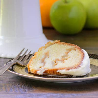 Apple Swirl Bundt Cake Slice | Magnolia Days