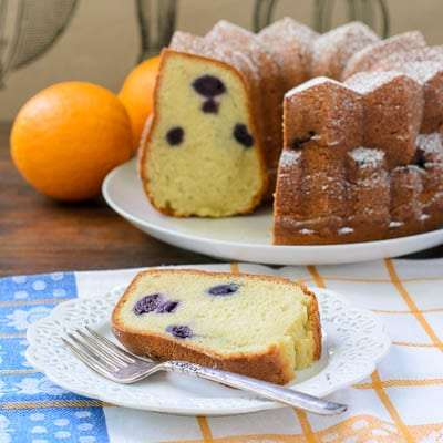 Orange Blueberry Yogurt Bundt Cake | Magnolia Days