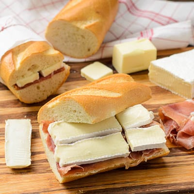 Prosciutto and Brie on Baguette | Magnolia Days