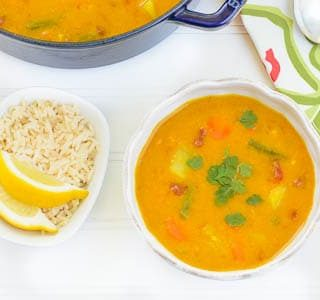 Yellow Lentil Soup with Vegetables