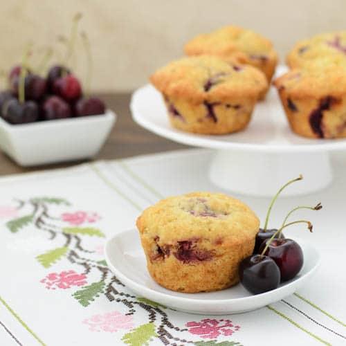 Cherry Muffins   Magnolia Days