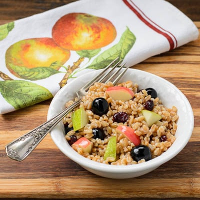 Farro and Fruit Salad for #SundaySupper