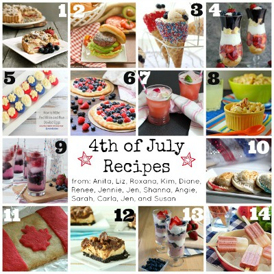 4th of July Recipes Photo Collage