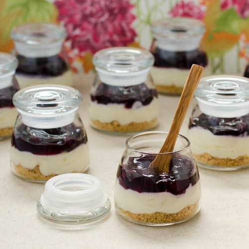 Mini Blueberry Cream Cheese Pies | Magnolia Days