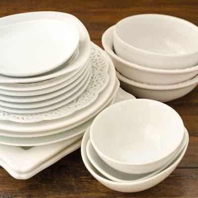 White Plates and Bowl | Magnolia Days