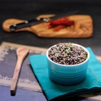 Black Lentils With Fresh Herbs