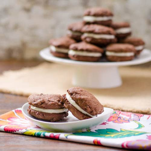 Chocolate Brown Butter Sandwich Cookies | Magnolia Days