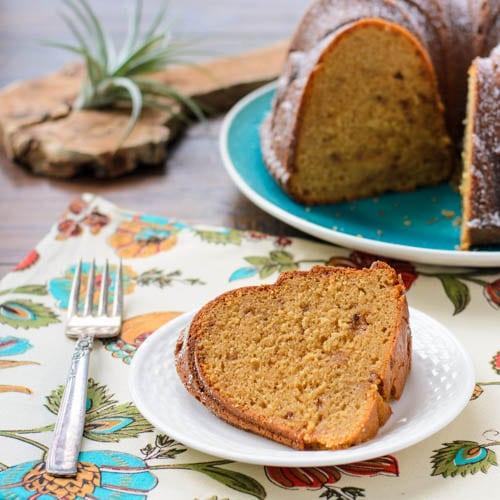 Dulce de Leche Bundt Cake Slice | Magnolia Days