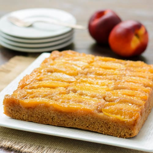 Nectarine Upside-Down Cake | Magnolia Days