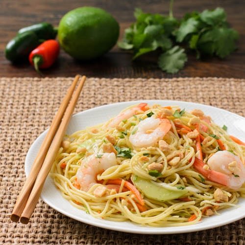 Thai Noodle Salad With Shrimp | Magnolia Days