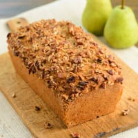 Spiced Pear Pecan Bread
