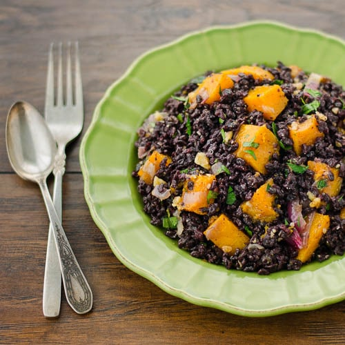 Black Rice with Butternut Squash