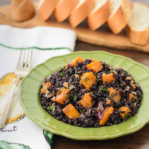 Black Rice with Butternut Squash | Magnolia Days