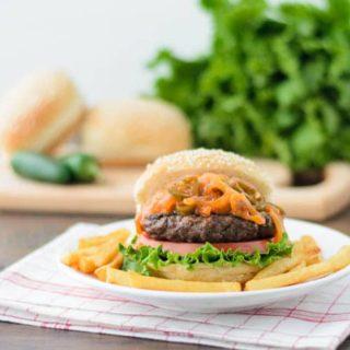 Volcano Buffalo Burger