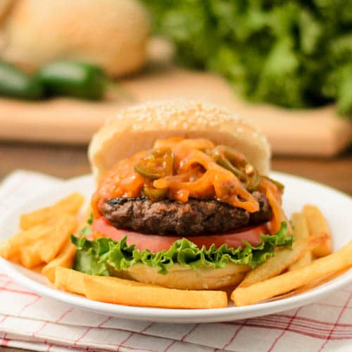 Volcano Buffalo Burger   Magnolia Days