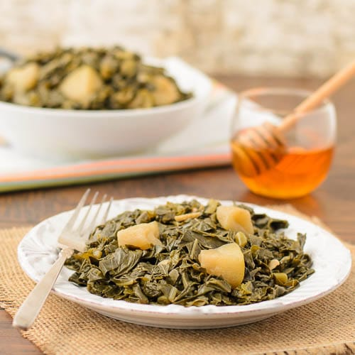 Braised Fall Greens With Apples   Magnolia Days