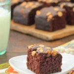 Chocolate Peanut Butter Snack Cake | Magnolia Days