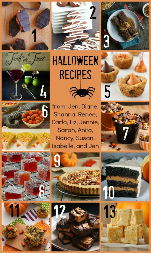 Halloween Food Blog Party Collage 2013