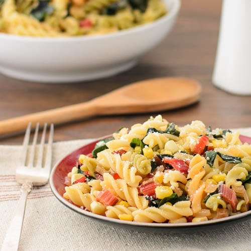 Pasta With Swiss Chard and Corn | Magnolia Days