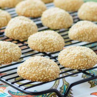 Sesame Tahini Cookies for #SundaySupper