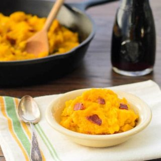 Skillet Buttercup Squash with Bacon for #SundaySupper