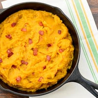 Skillet Buttercup Squash with Bacon