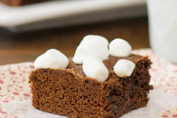 Chocolate Caramel Hot Cocoa Brownies | Magnolia Days