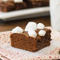 Chocolate Caramel Hot Cocoa Brownies