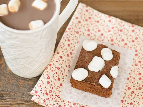 Chocolate Caramel Hot Cocoa Brownies | Magnolia Days