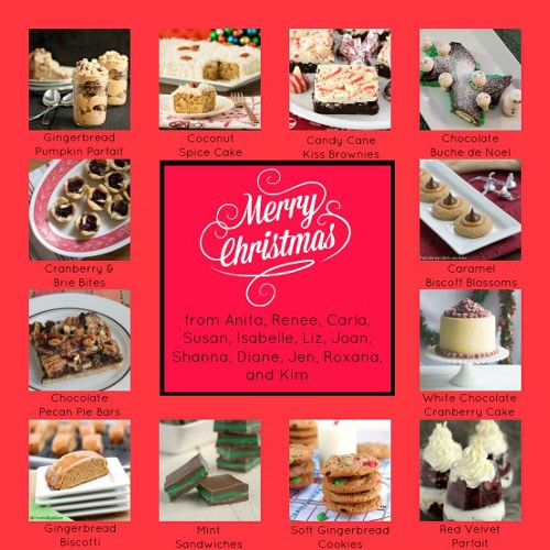 Christmas Holiday Food Party Collage