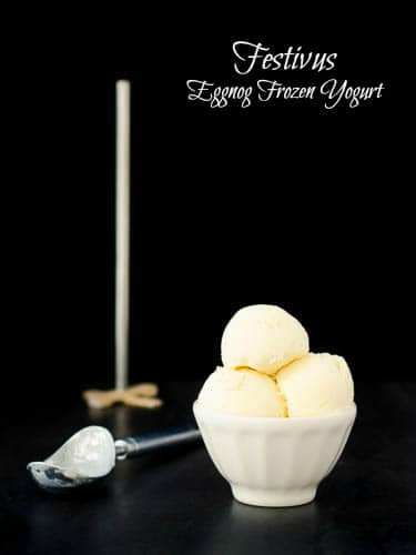 Eggnog Frozen Yogurt | Magnolia Days