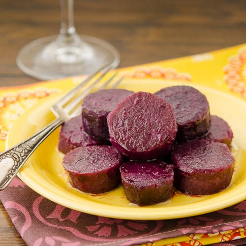 Maple Baked Purple Sweet Potatoes | Magnolia Days