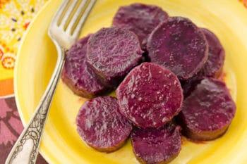 Maple Baked Purple Sweet Potatoes | Magnolia Days