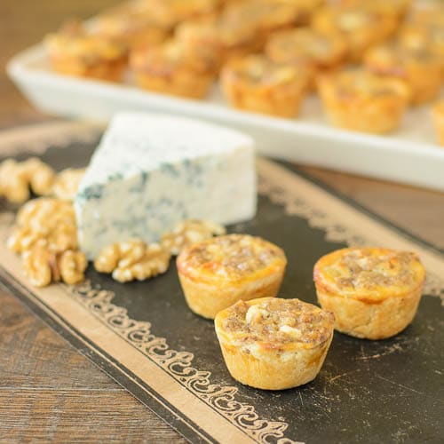 Blue Cheese Walnut Tarts for #SundaySupper