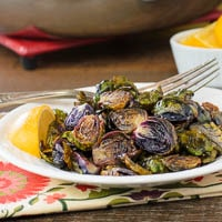 Brown Butter Lemon Roasted Brussels Sprouts