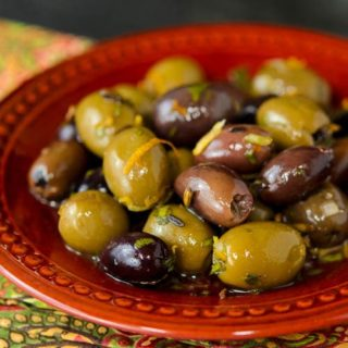 Herb and Citrus Marinated Olives for #SundaySupper