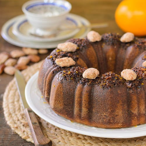 Orange Cinnamon Pecan Cake for #BundtBakers